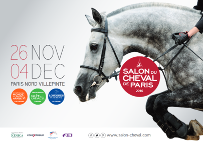 Affiche Salon du Cheval de Paris 2016 largeL