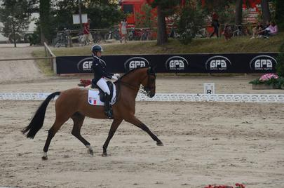 Léa Bonifay et Fantastic championnat d'europe dressage junior largeL