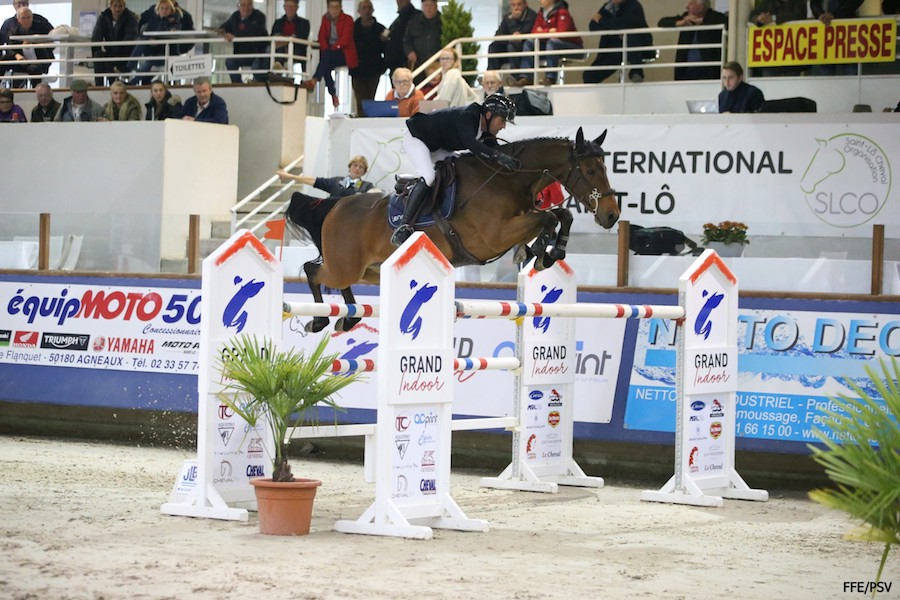Marc Dilasser et Vital Chance*de la Roque Grand Indoor Saint Lo 2019